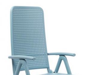 Folding high back armchair Darsena