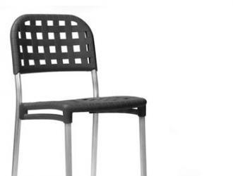 Пластмасов бар стол с алуминиеви крака ГЛОБО