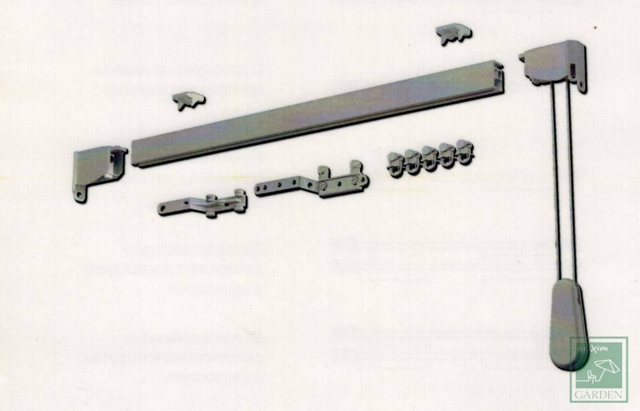 Алуминиев корниз с управление с въже