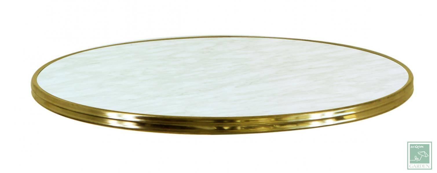 Table top MARBRE DE GENES Cerclé Laiton