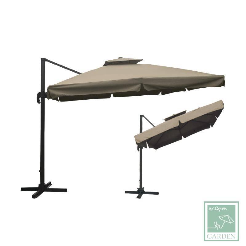 Алуминиев чадър със странично рамо 300x300см.WE900