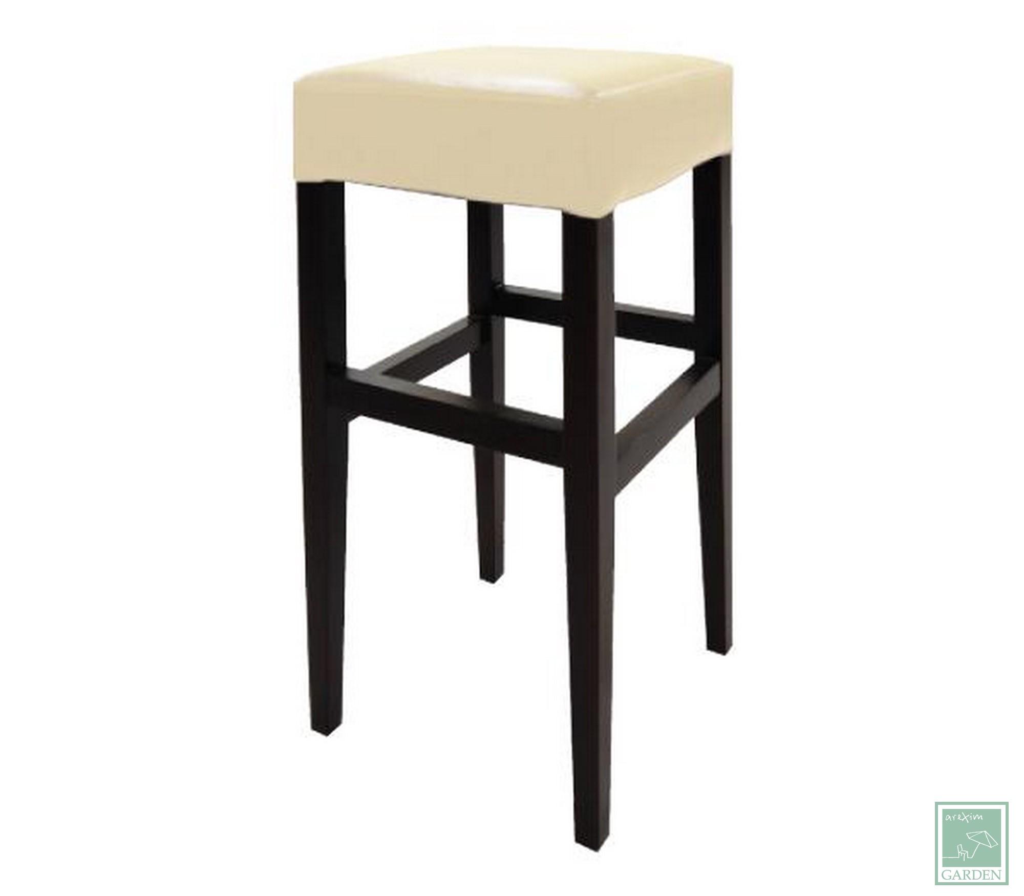 Дървен бар стол WE7124